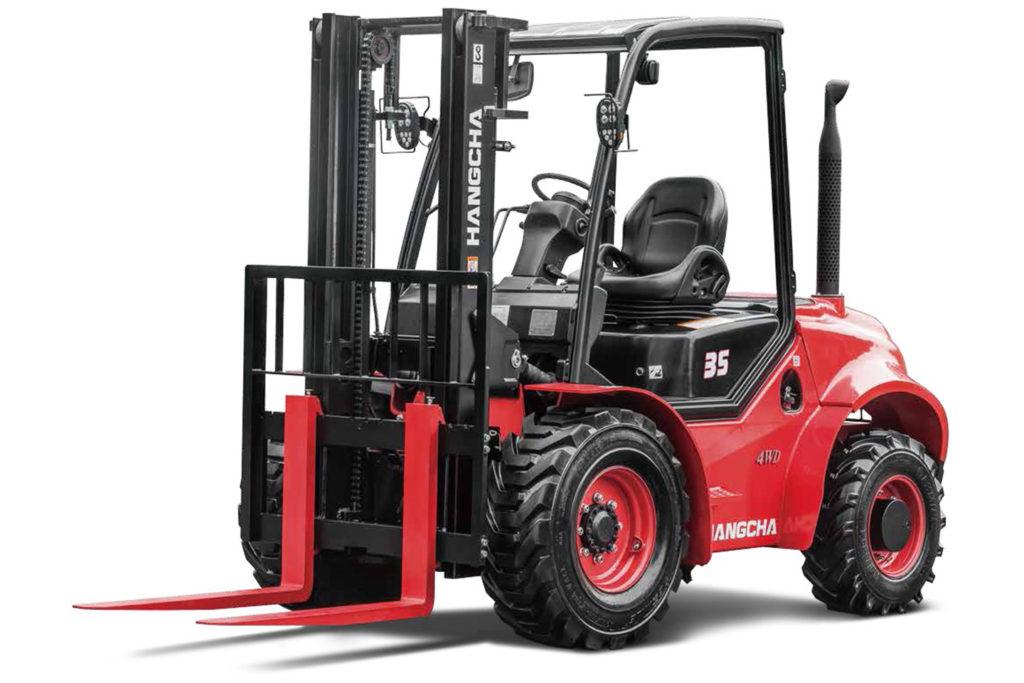 Wózek widłowy Hangcha 2500 3000 3500  Kg terenowe 4WD 1024x683