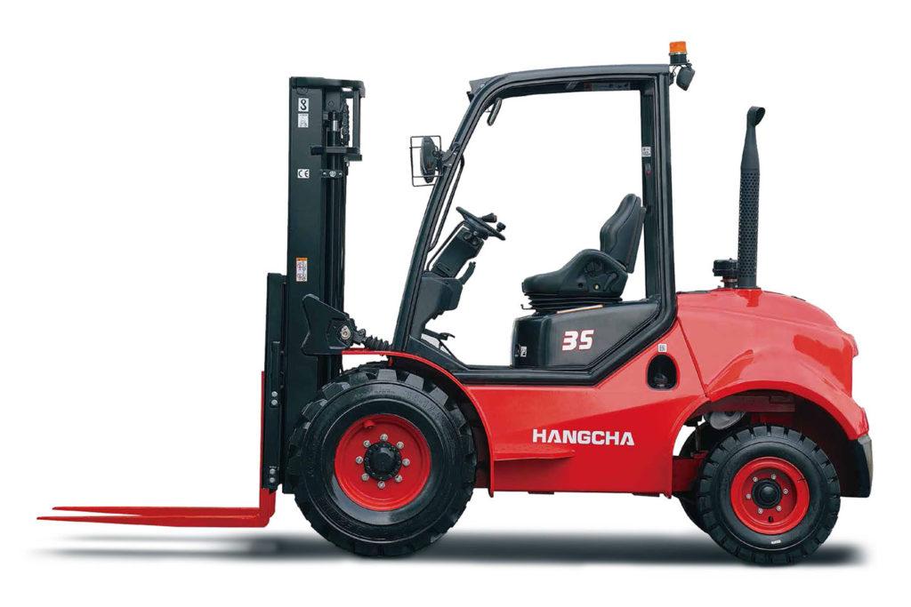 Wózek widłowy Hangcha 2500 3000 3500 Kg terenowe 1024x683