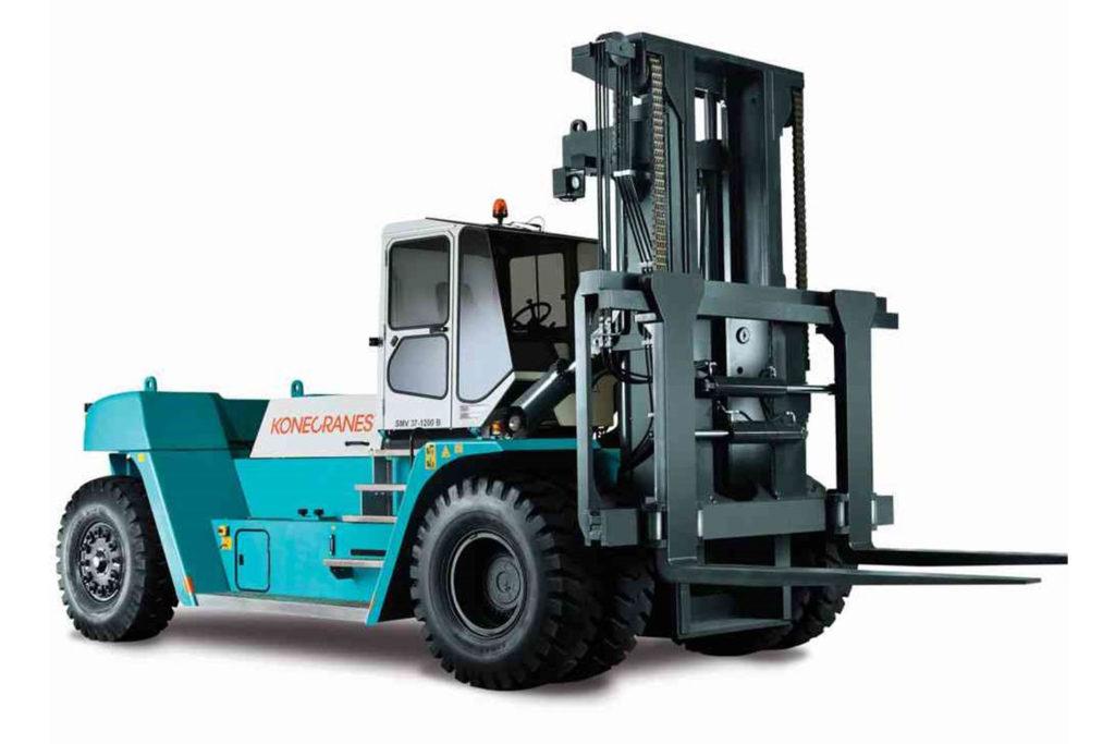 Wózek widłowy KONECRANES czołowy ciężki 1024x683